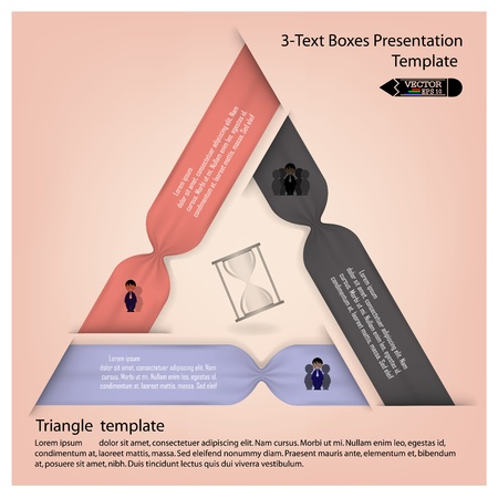 colorful presentation template with numbers and place for your text  Vector