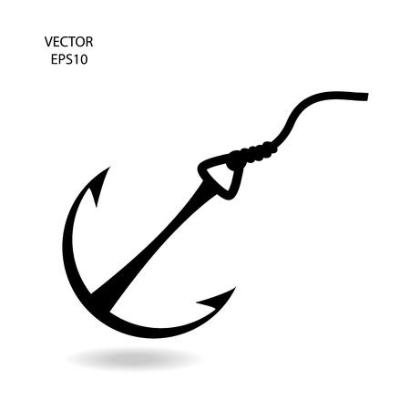 fishing hook icon Stock Vector - 21849918