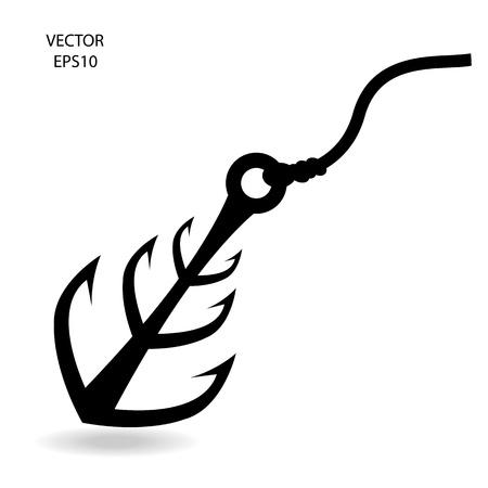 fishing hook: pesca gancio icona