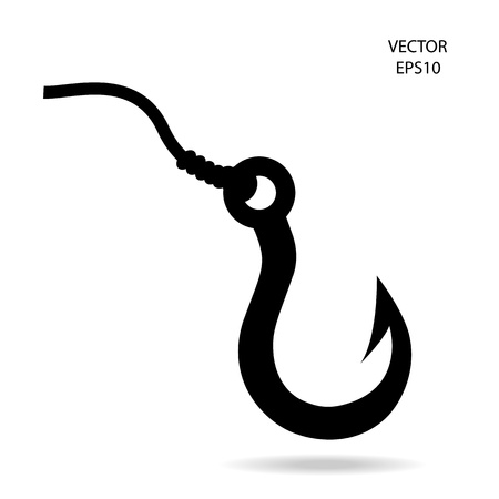 fishing hook icon Ilustrace
