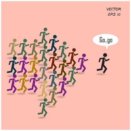 Concept de leadership Banque d'images - 21849939