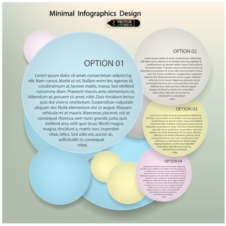 Modern Design Minimal style infographic template,  presentation  template ,vector illustration  Vector