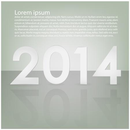 Happy new years, 2014 ,calendar background ,vector Vector