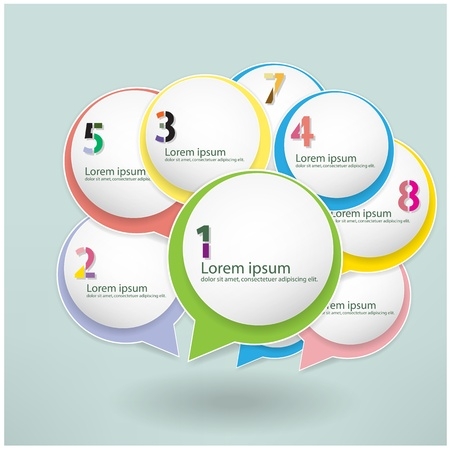 set of colorful Speech Bubbles, presentation template ,Vector Illustration Illustration