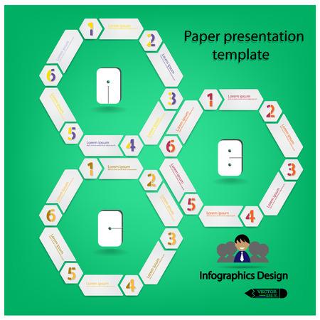 Modern Design Minimal style infographic template illustration Vector