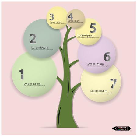 decision tree:  Modern Design Minimal style infographic template illustration