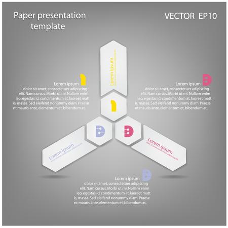 Modern Design Minimal style infographic template illustration Stock Vector - 22361536