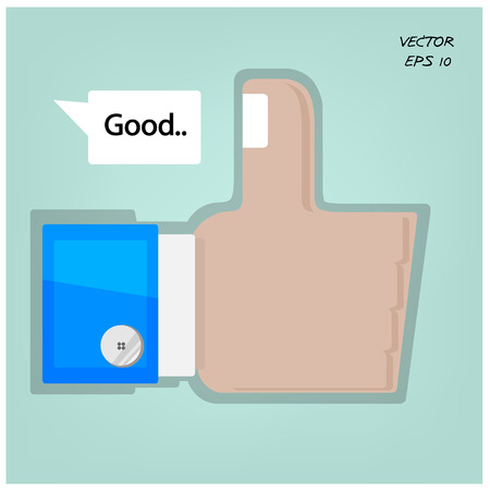 Like us ,hand sign  Vector