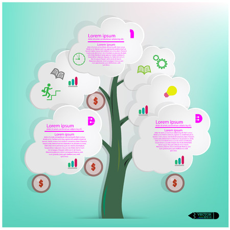 White Speech Bubbles Tree Vector