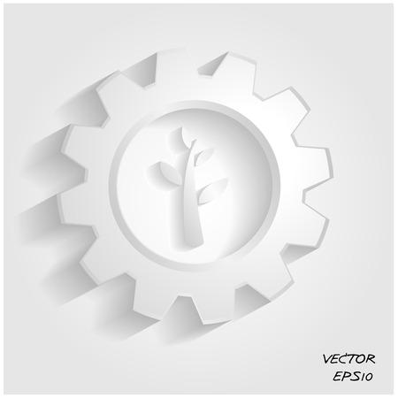 green industrial symbol Vector