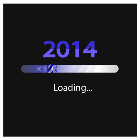 New year 2014 loading background,happy new year template vector illustration Vector