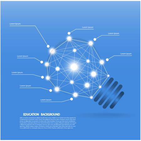 bombilla: Plantilla creativa con s�mbolos del bulbo de la l�mpara se puede utilizar para la infograf�a banners concepto de ilustraci�n vectorial Vectores