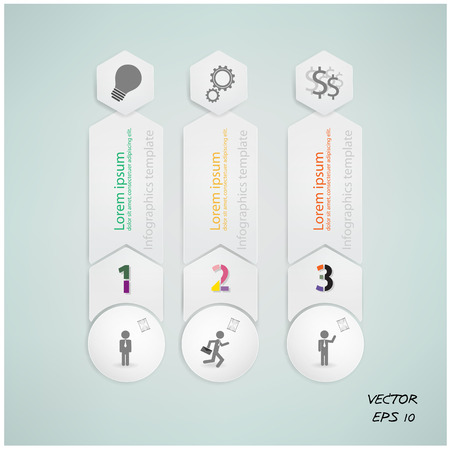 number options template  Vector illustration  Vector