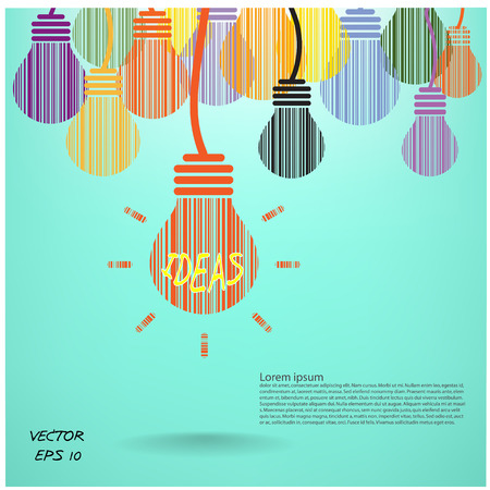 contemplating: Creative light bulb, Business and ideas concepts,Vector illustration