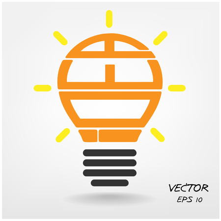Creative light bulb, Business and ideas concepts,Vector illustration  Vector