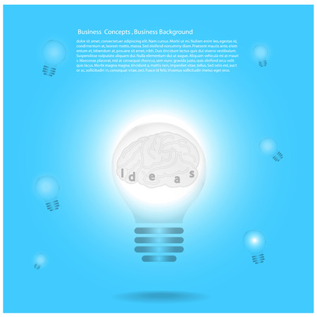 Creative Template with lamp bulb symbols   can be used for infographics   banners   concept vector illustration Vector