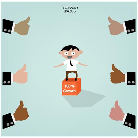 intelligent partnership: Businessman icon,business concept,vector
