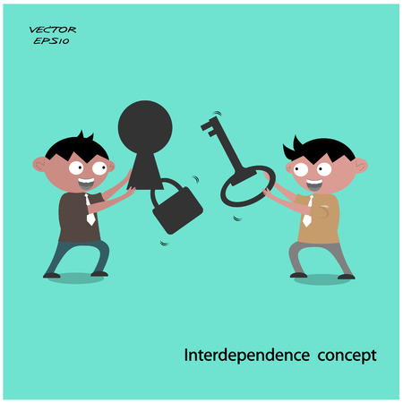 interdependence: Interdependence concept ,business concepts  vector illustration