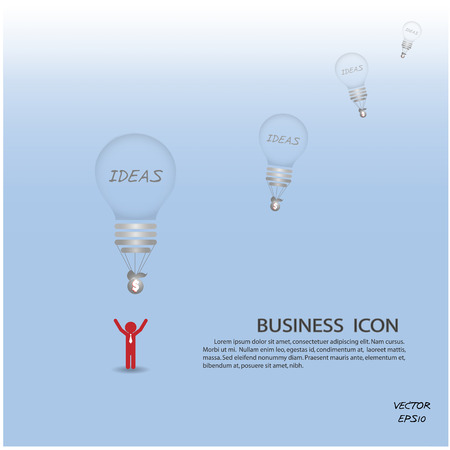 creative light bulb background,business concept.vector illustration.  Vector