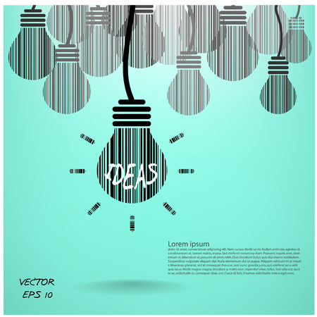 conceptual bulb: creative light bulb background and business concept.vector illustration.
