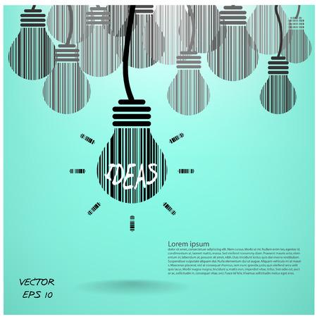 denkender mensch: kreative Gl�hbirne Hintergrund-und Gesch�fts concept.vector Abbildung. Illustration