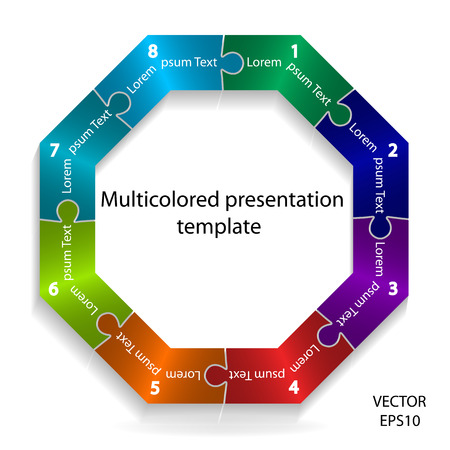 Abstract colorful presentation template,design element.vector illustration  Vector