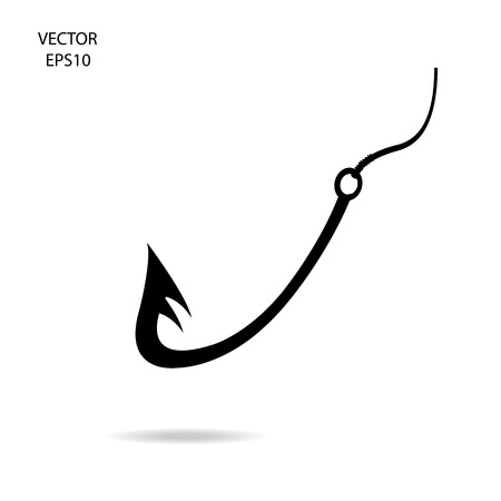 perspective fishing hook icon,vector illustration Stock Vector - 23263129