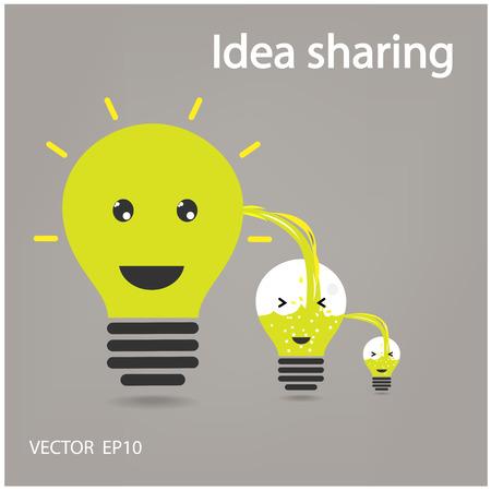 idea sharing ,ideas concepts , creative sign,vector illustration Stock Vector - 23263137