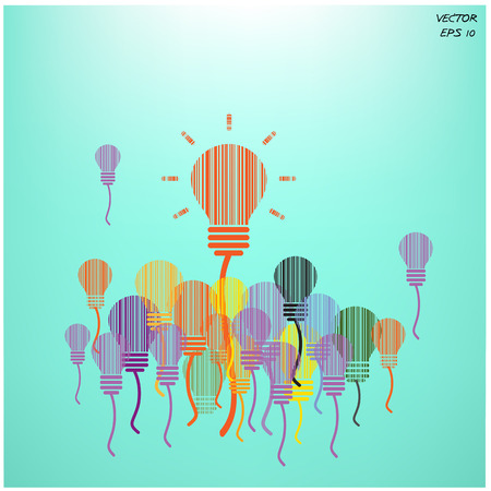 creative light bulb background and business concept vector illustration  Vector