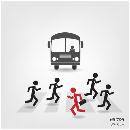 Think different, stand out from crowd,make a different.vector illustration Stock Vector - 23492125