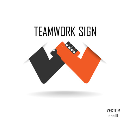 Handshake abstract vector design template. Business creative concept. Deal, contract, team, cooperation symbol icon  Vector