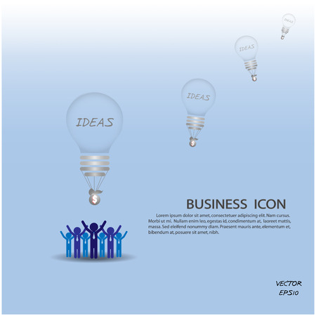 businessman and business ideas  vector illustration Vector