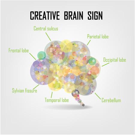 dea: Creative brain Idea concept background design for poster flyer cover brochure ,business dea ,abstract background.vector illustration  Illustration