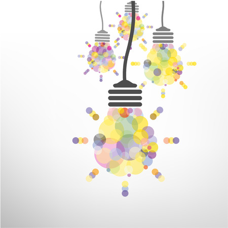 Creative light bulb Idea concept background design for poster flyer cover brochure ,business idea ,abstract background.vector illustration  Vector
