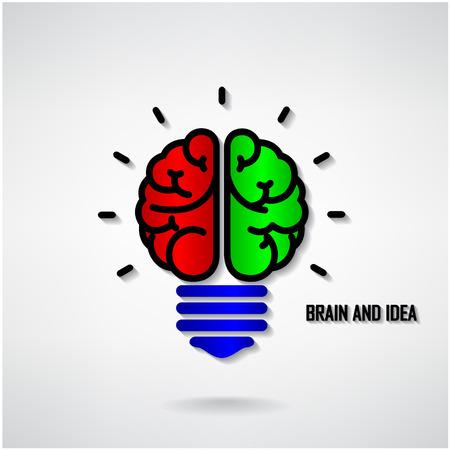 Creative brain Idea concept background design for poster flyer cover brochure ,business dea ,abstract background.vector illustration Stock Vector - 25063678