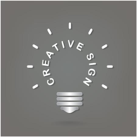 dea: Creative light bulb Idea concept background design for poster flyer cover brochure ,business dea ,abstract background.vector illustration Illustration