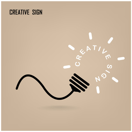 positive positivity: Creative light bulb Idea concept background design for poster flyer cover brochure ,business dea ,abstract background.vector illustration Illustration