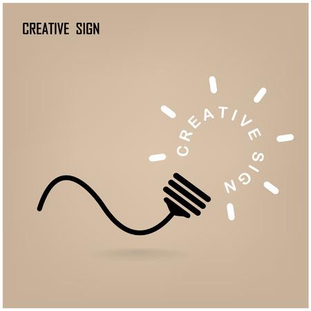 signos matematicos: Diseño de fondo del concepto de la luz de bulbo Idea Creativa para el folleto cubierta aviador cartel, dea negocio, extracto ilustración background.vector Vectores