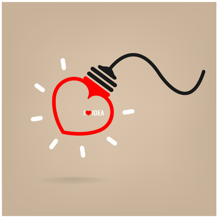 dea: Creative heart Idea concept background design for poster flyer cover brochure ,business dea ,abstract background.vector illustration Illustration