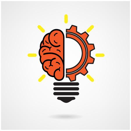 dea: Creative brain Idea concept background design for poster flyer cover brochure ,business dea ,abstract background.vector illustration
