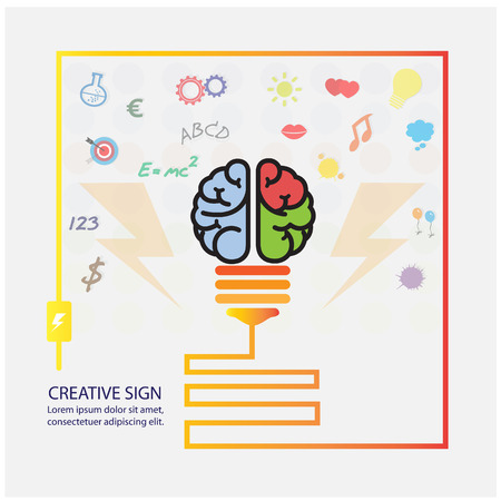 Creative brain Idea concept background design for poster flyer cover brochure ,business dea ,abstract background.vector illustration Vector