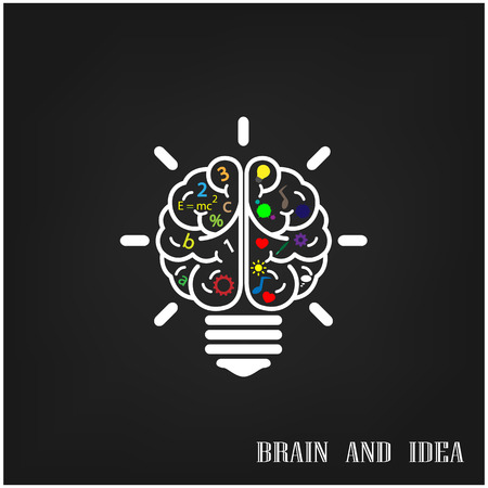 Creative brain Idea concept background design  Vector