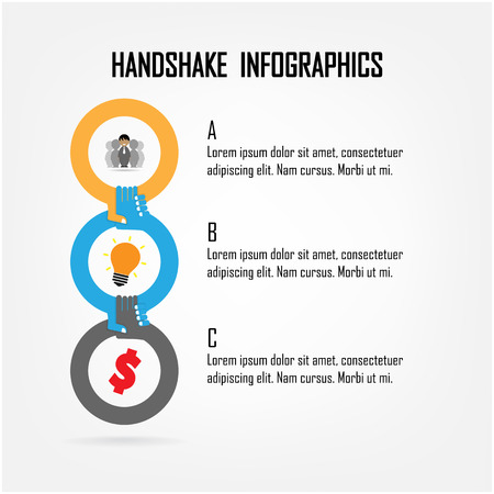 Handshake abstract sign vector design template