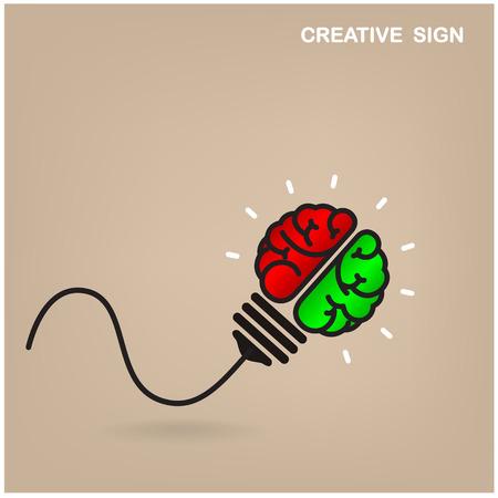 Creative brain Idea concept background design  Vector