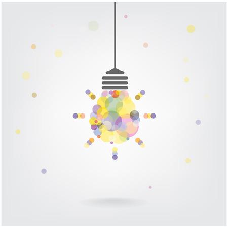 Creative light bulb Idea concept background design Stock Vector - 25248998