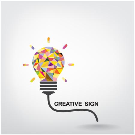 創造的な電球アイデア コンセプトの背景デザイン