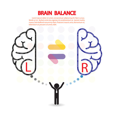 left right: Creative left and right brain Idea concept background design