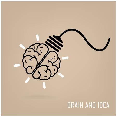 brain illustration: Creative brain Idea concept background design