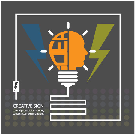 creative light bulb,saving sign,ideas concepts,business background vector illustration Vector