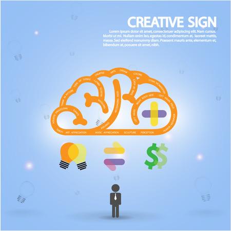 Creative brain Idea concept background design
